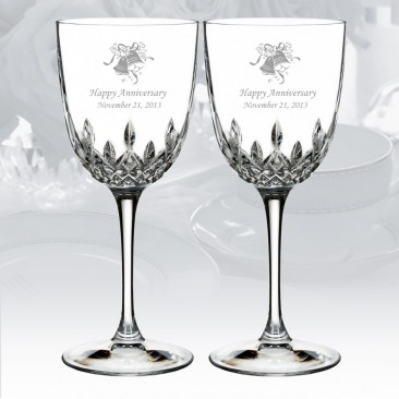 Waterford Lismore Encore White Wine Glass, Pair