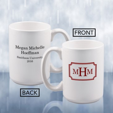 Sublimation Color Imprinted Ceramic Mug Monogrammed Gift