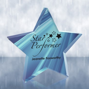 Sublimation Color Imprinted Acrylic Star Paperweight