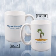Sublimation Color Imprinted Ceramic Mug Keepsake Gift