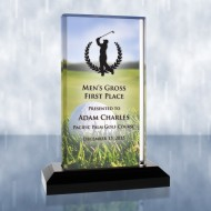 Sublimation Color Imprinted Beveled Impress Acrylic Golf Award