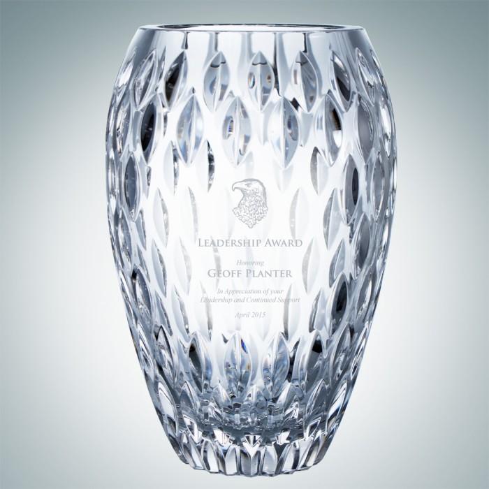 Clear Nautilus Vase | Hand Cut