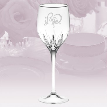 Vera Wang Wedgwood Duchesse Platinum Wine Glass 14oz