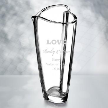Orrefors Heart Vase