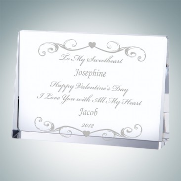 Horizontal Rectangle Anniversary Plaque