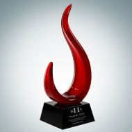 Art Glass The Red Jay Award