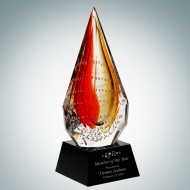 Art Glass The Red Flare Award