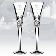 Monique Lhuillier Waterford Ellypse Flute - Pair