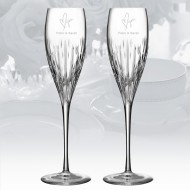 Monique Lhuillier Waterford Stardust Champagne Flute, 8oz Pair