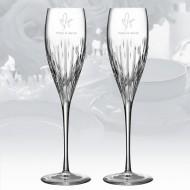 Monique Lhuillier Waterford Stardust Champagne Flute, 8oz Pair