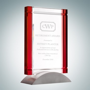 Red Deco Award (Aluminum Base)