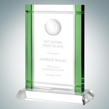 Classic Green Deco Award (Crystal Base)