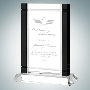 Classic Black Deco Award (Crystal Base)