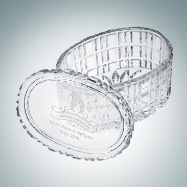 Majestic Crystal Box - Oval | Hand Cut