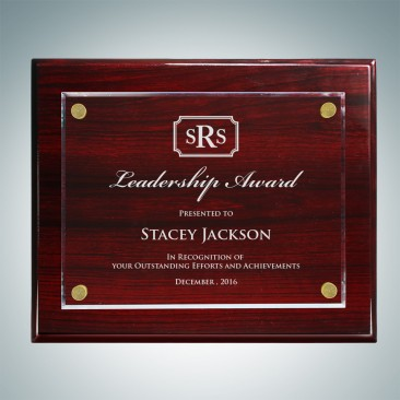 Rosewood Piano Finish Plaque - Floating Acrylic Plate