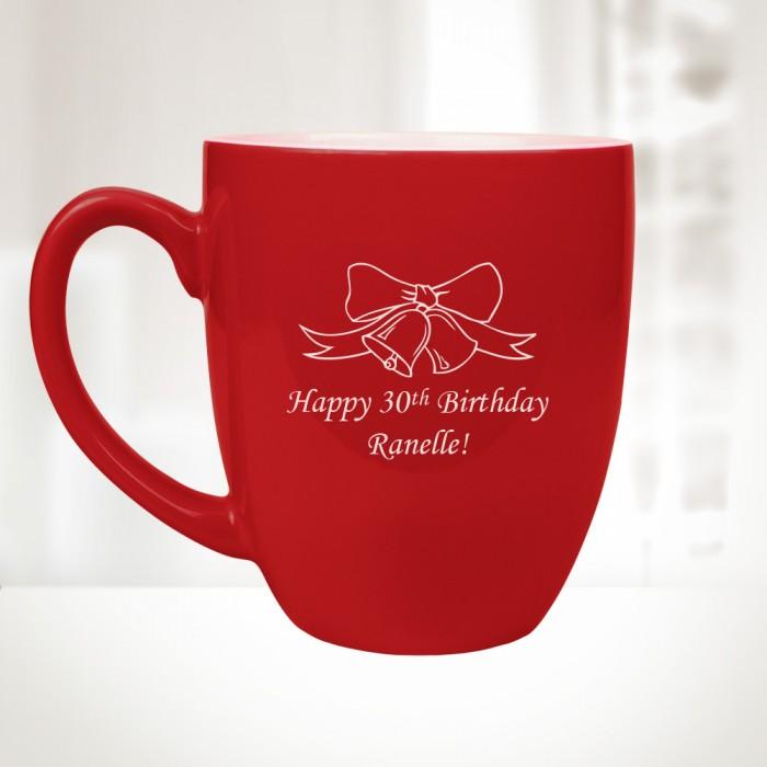 16 oz. Red Ceramic Bistro Mug