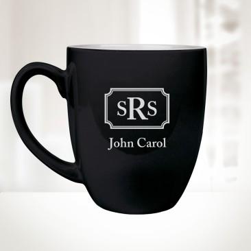 16 oz. Black Ceramic Bistro Mug