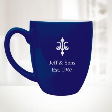 Blue Ceramic Bistro Mug, 16oz