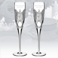 Waterford Love Happiness Flute 5oz, Pair