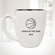 16oz White Ceramic Bistro Mug