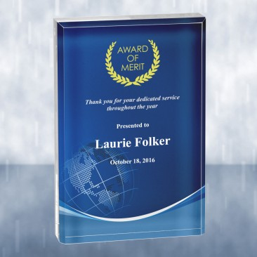 Sublimational Beveled Rectangle Acrylic Award