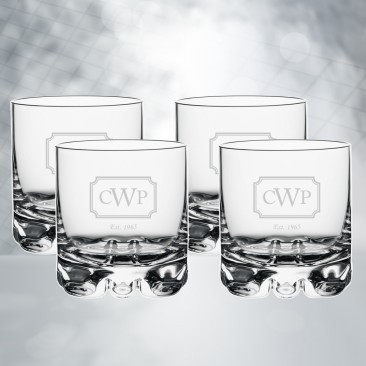 Orrefors Erik DOF Whiskey Glass 4pc Set