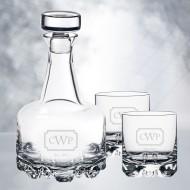 Orrefors Erik Decanter & DOF Whiskey Glass 3pcs Set