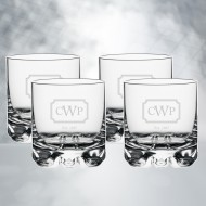 Orrefors Erik DOF Whiskey Glass 12oz, 4pcs Set