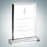 Beveled Vertical Rectangle Plaque with Base