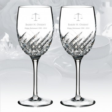 Waterford Essentially Wave Wine Glass 9oz, Pair