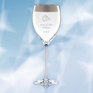 Lenox Timeless Wide Platinum Wine Glass 10oz