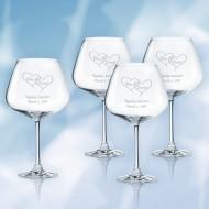Lenox Tuscany Classics Burgundy Wine Glass 28oz, 4pcs Set