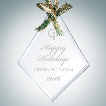 Beveled Diamond Ornament