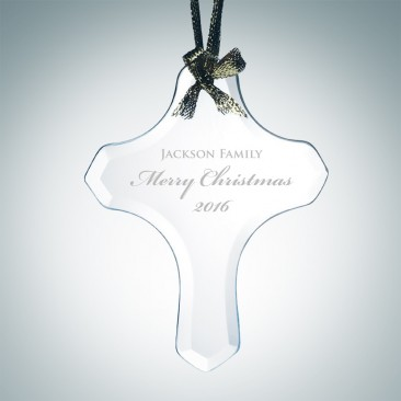 Beveled Cross Ornament