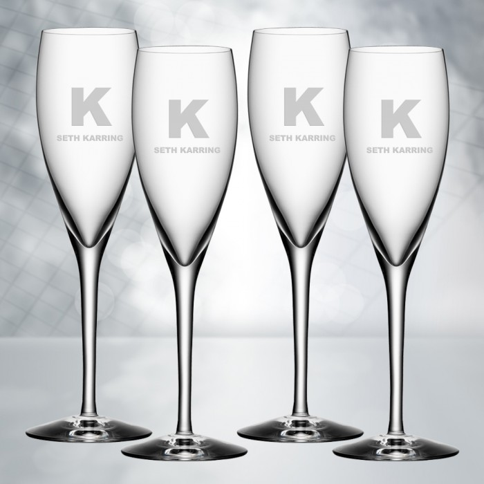 Orrefors More Champagne 5oz, 4pc