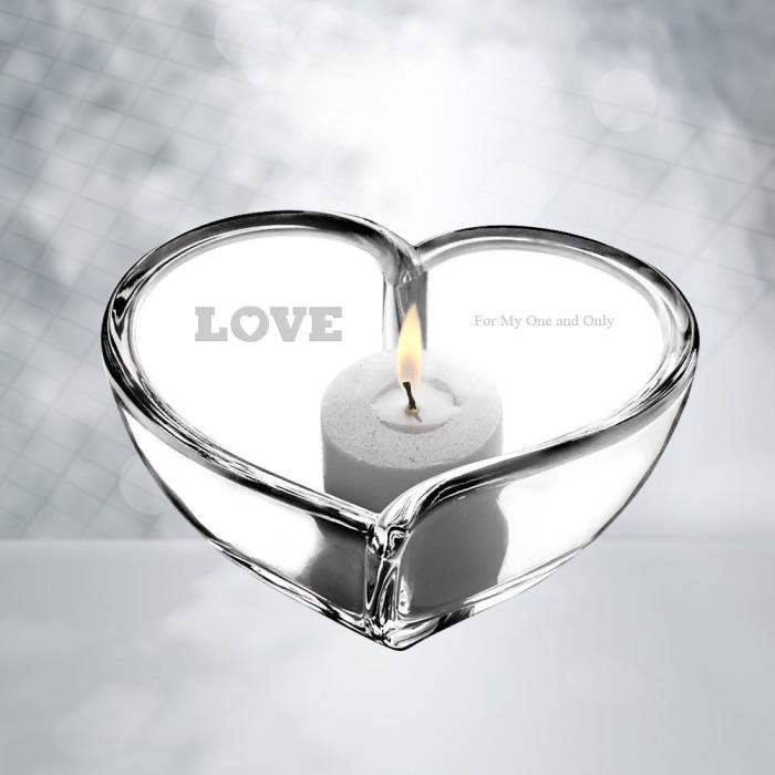Orrefors Heart Bowl/Votive