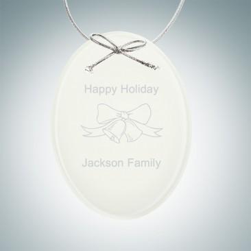 White Oval Ornament