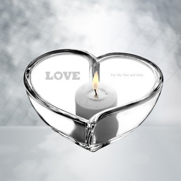 Orrefors Heart Bowl/Votive Candle Holder