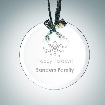 Beveled Circle Ornament