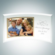 Curved Horizontal Gold Photo Frame