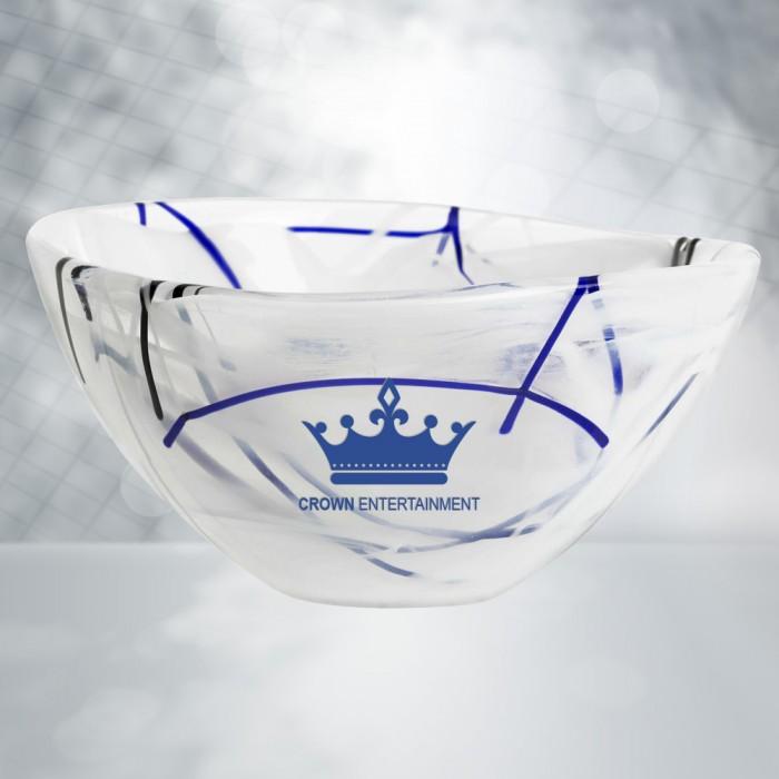 Occasions Kosta Boda White Contrast Bowl Corporate Awards