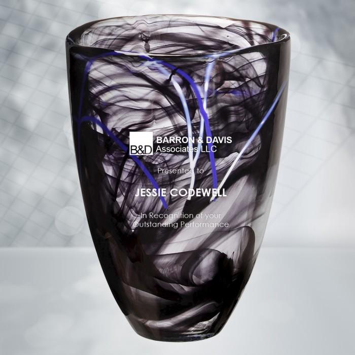 Occasions Kosta Boda Black Contrast Vase Corporate Awards