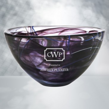 Kosta Boda Black/Purple Contrast Bowl