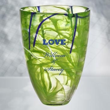 Kosta Boda Lime Contrast Vase