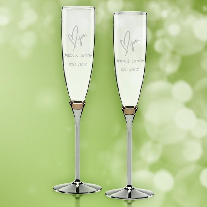 Kate Spade Rosy Glow Flutes 6 oz