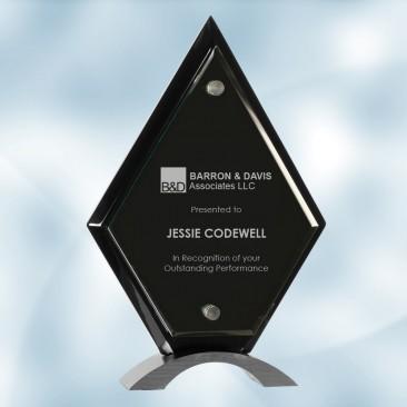 Diamond Black Piano Finish Floating Acrylic Award