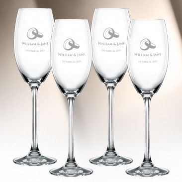 Nachtmann Vivendi Champagne Glass 4pc Set, 9.6oz