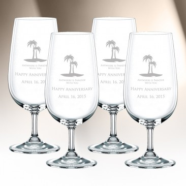 Nachtmann Vivendi Stemmed Pilsner Glass 4pc Set, 15.2oz