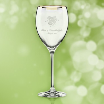 Kate Spade Orleans Square Gold Wine Glass 10oz
