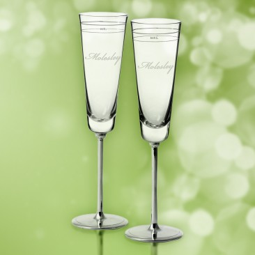 Kate Spade Darling Point Mr & Mrs Flutes, Pair